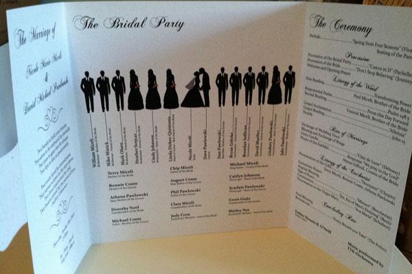 03-silhouette-wedding-program