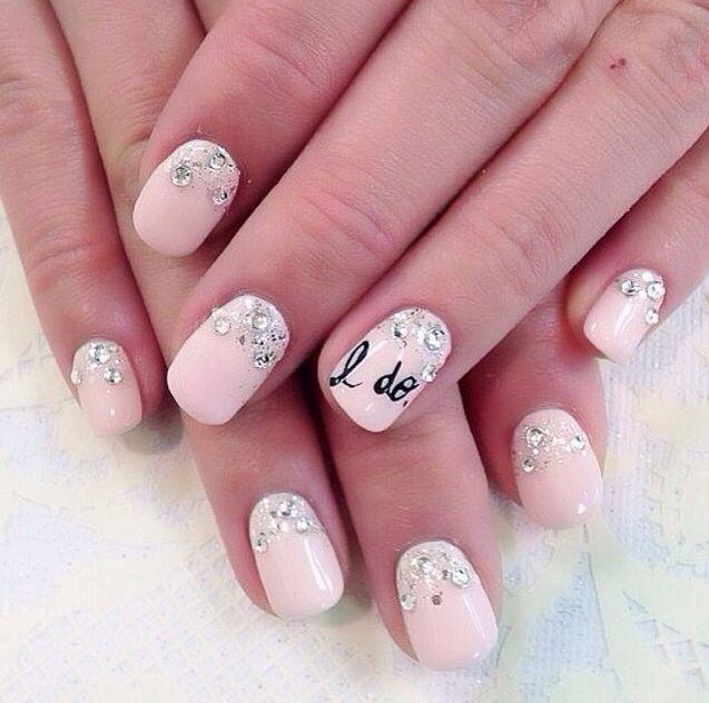 Pink-Embellished-Wedding-Nails