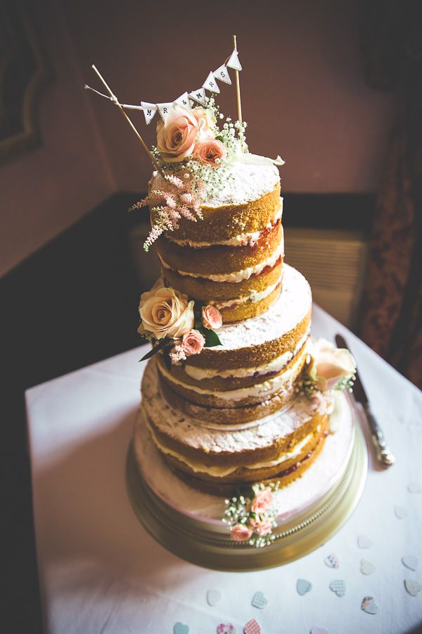 Rustic-Vintage-Naked-Wedding-Cake