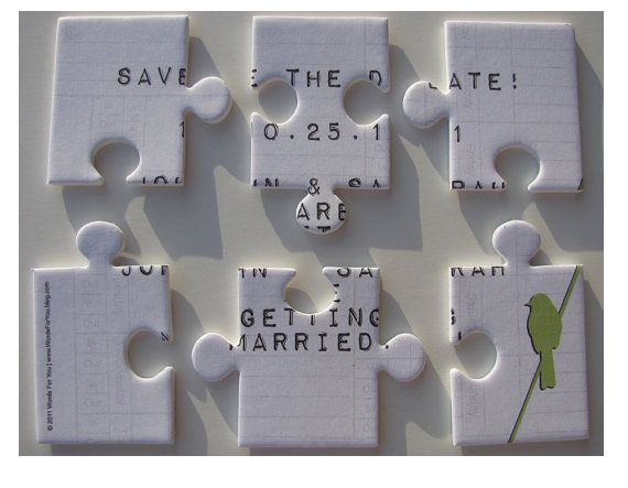 Save the date jigsaw